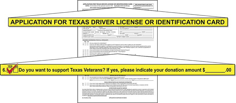 Texas Driver License Form