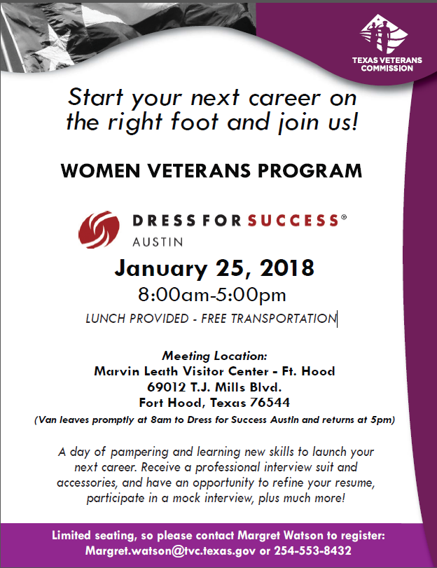dress for success women veterans program event