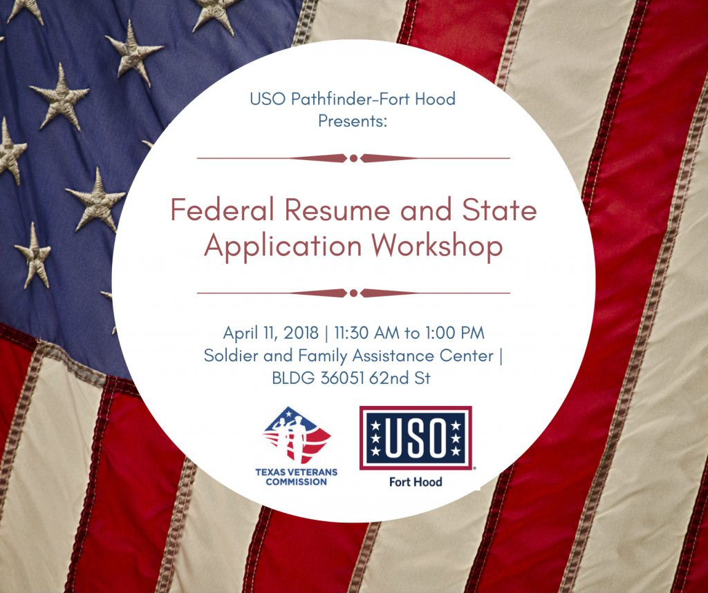federal resume and state application workshop