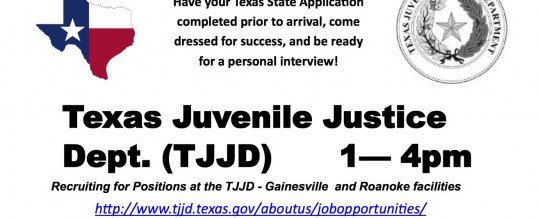 Juvenile Justice Hiring Event