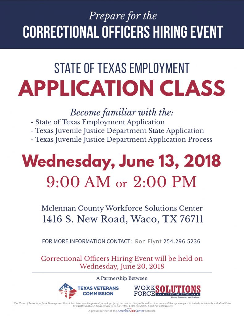 state of texas employment class texas veterans commission