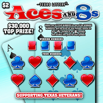 Aces and 8s Texas Lottery ticket