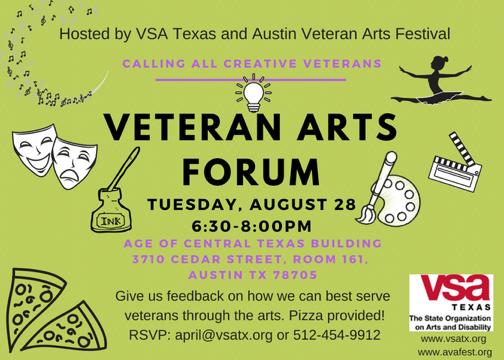Veteran Art Forum event to learn how to best serve veterans through art