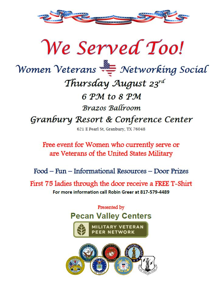 We served too women-Veterans Networking Social