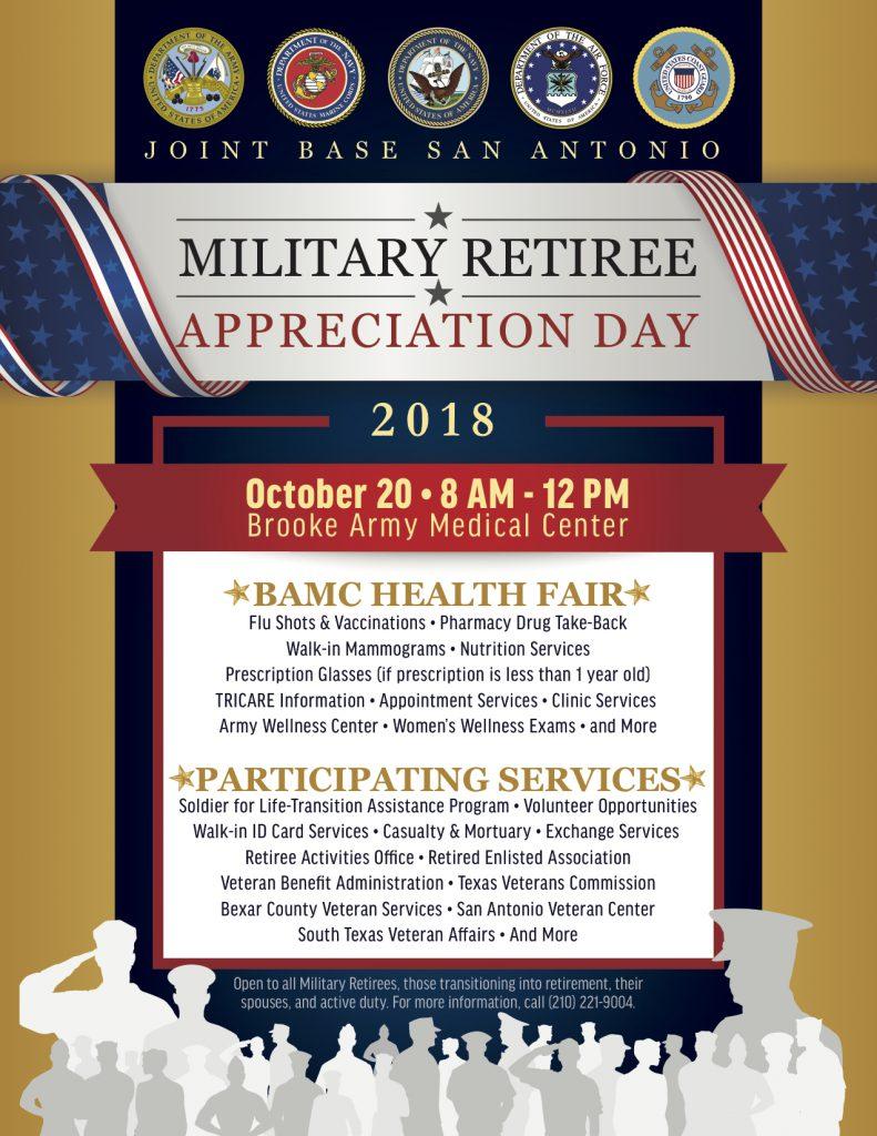 2018 Retiree Appreciation Day (San Antonio) - Texas Veterans