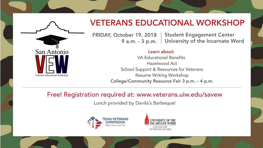 San Antonio Veterans Educational Workshop Texas Veterans Commission