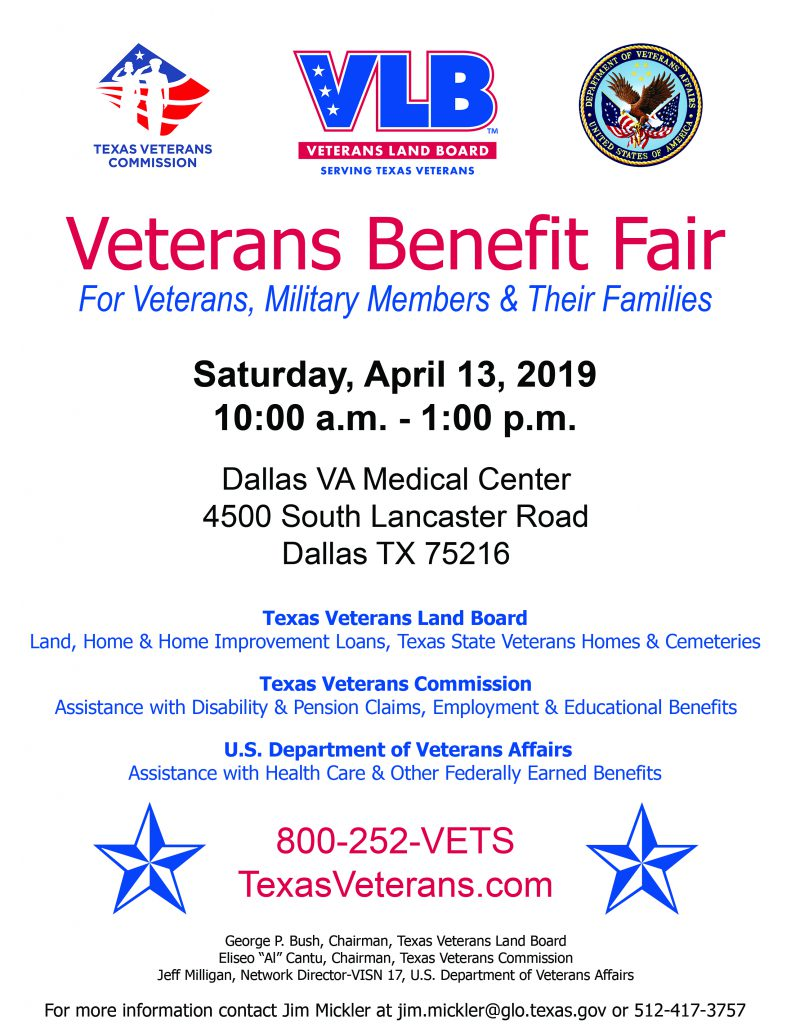 Veterans Benefit Fair Dallas Texas Texas Veterans