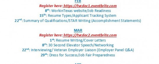 Veterans Employment Workshop Series