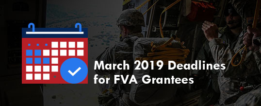 March 2019 Deadlines For FVA Grantees