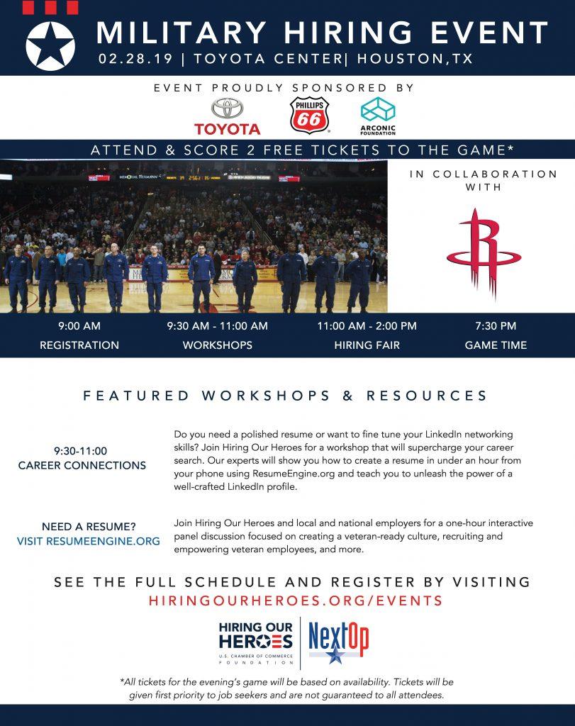 Military Hiring Event Houston Rockets