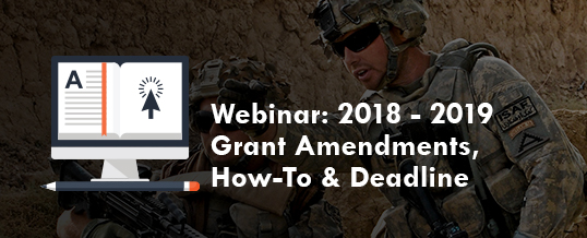 Webinar: 2018-2019 Grant Amendments, How-To & Deadline