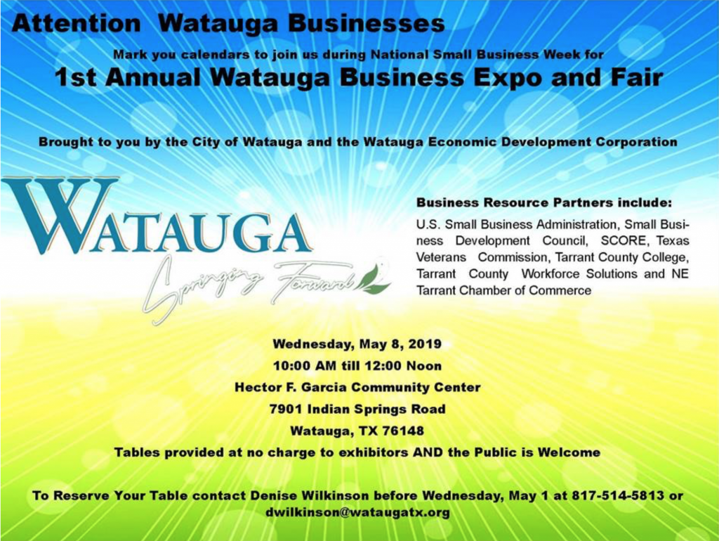 Business Expo - Watauga - Texas Veterans Commission