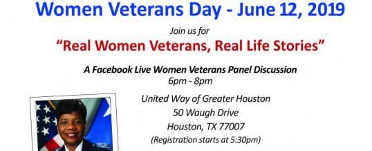 "Women Veterans Day – ""Real Women Veterans, Real Life Stories"""