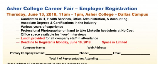 Dallas, Texas: Asher College Career Fair