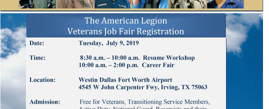 Irving, Texas: The American Legion Veterans Job Fair