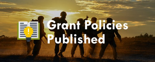 2019 Grant Policies Published (Application & Award, and Expenditure Supporting Documents)