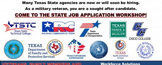 Texas State Agency Employment Application Workshop