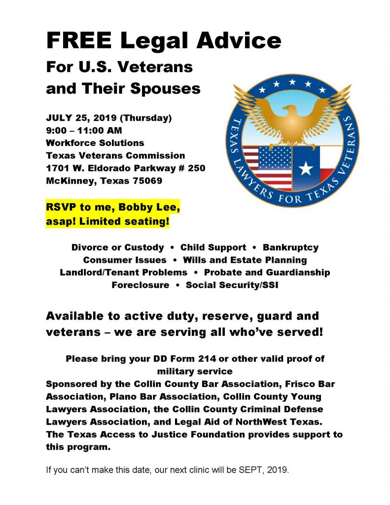 FREE Legal Advice For U S  Veterans and Their Spouses
