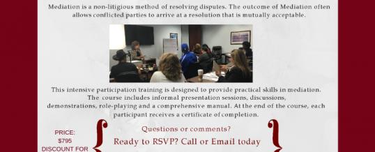 Houston – Family Mediation Training