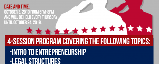 Houston – Entrepreneur Training Project for Veterans