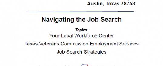 Veterans Employment Preparedness Workshop