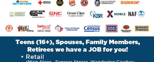 Fort Hood Exchange Job Fair