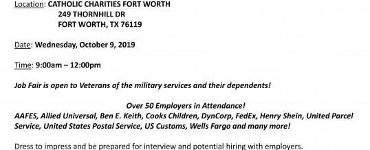 Catholic Charities Military Veteran Hiring Event