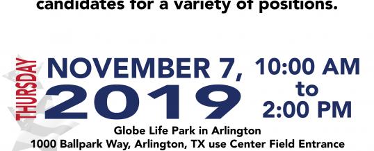 Arlington, Texas-Red White & You Job Fair [Globe Life Park]
