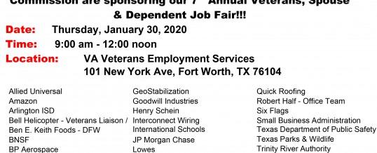 FT Worth, Texas-VA Veterans Job Fair