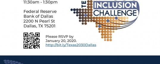 Dallas, Texas-Texas 2030 Inclusion Challenge