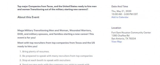 Mega Military Veterans Career Fair