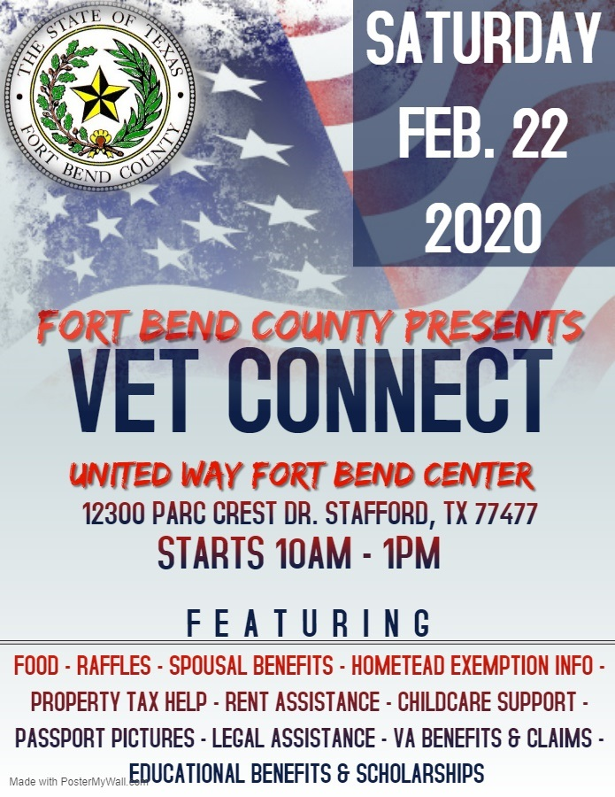 Fort Bend County Presents Vet Connect Texas Veterans Commission