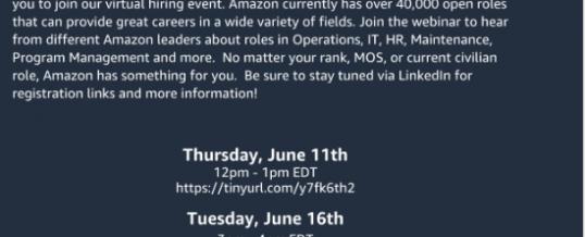 Amazon Virtual Hiring Events