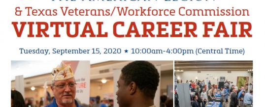 American Legion Veterans Virtual Career Fair