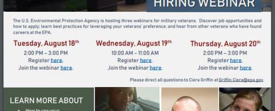 US EPA Hiring Webinar 18-20 August 2020