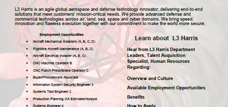 Virtual Employer Showcase (L3 Harris)