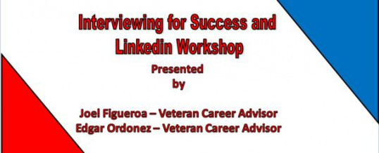 Interviewing for Success and Linkedin Workshop