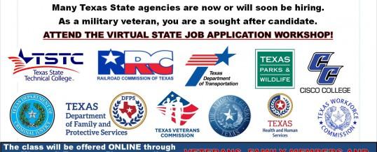 Texas Veterans Commission Virtual State Job Application Workshop