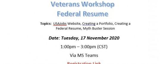 Federal Resume Workshop STXD