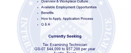 IRS Virtual Employer Showcase