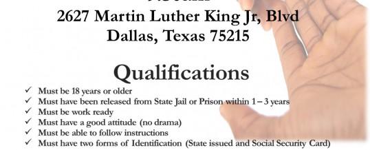 Dallas Second Chance Program Orientation