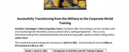 Successfully Transitioning from the Military to the Corporate World Training