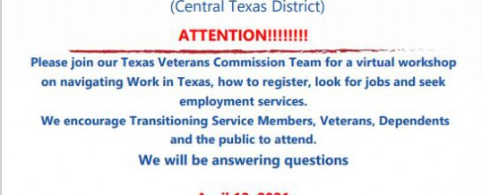 Work in Texas Virtual Workshop
