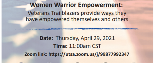 Women Warrior Empowerment: Veterans Trailblazers provide ways they have empowered themselves and others