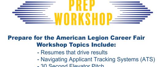 American Legion Virtual Career Fair Workshop-North Texas
