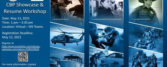 Customs & Border Patrol Virtual Employer Showcase and Resume Class
