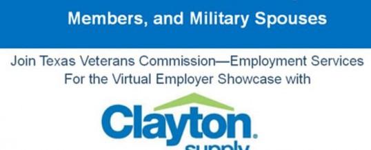Clayton Supply Virtual Employer Showcase