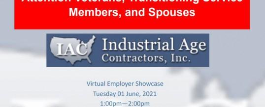 Industrial Age Contractors Virtual Employer Showcase