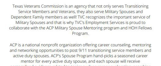 Military Spouse Virtual Information Session