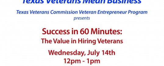 Success in 60 Minutes:  The Value in Hiring Veterans